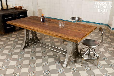 table cuisine industrielle table rabattable cuisine table industrielle bois