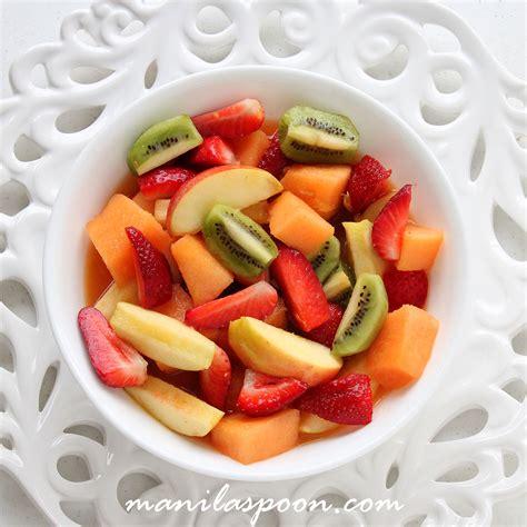 italian fruit salad italian fruit salad manila spoon