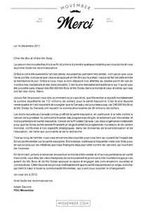 lettre de remerciement mariage movember canada nouvelles une lettre de remerciements