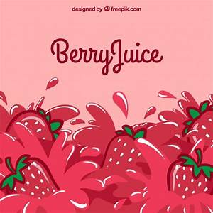 Strawberry juice background Vector | Free Download