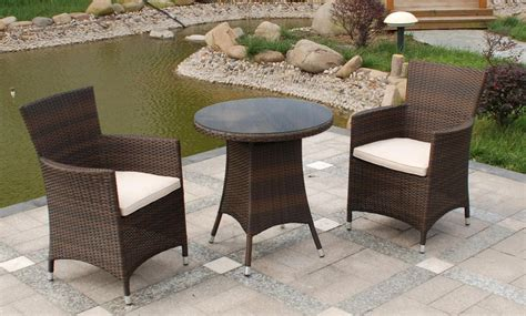 low back reclining royalcraft cannes 2 seater bistro set mocha brown