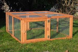 Maison Pour Lapin : enclos pour lapin et cochon d 39 inde pliable 39 39 run out ~ Premium-room.com Idées de Décoration