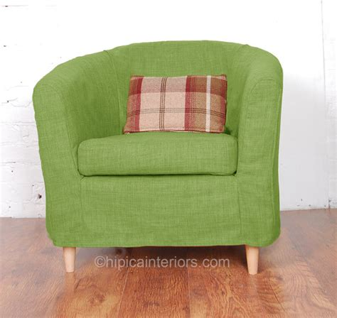 slip cover to fit ektorp tullsta tub chair in beautiful linen