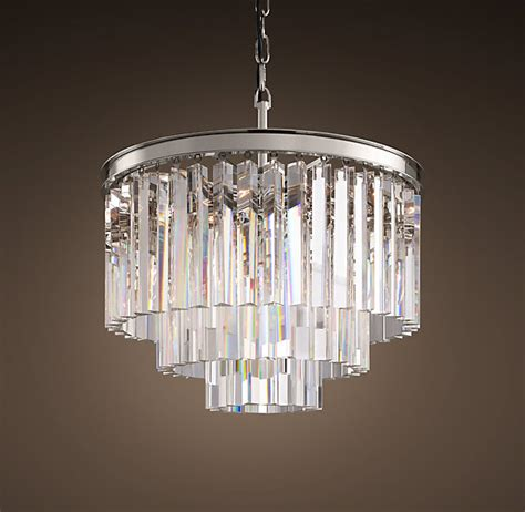 restoration hardware chandeliers restoration hardware 1920 s odeon glass fringe 3 ring
