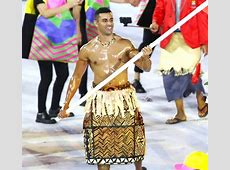Tonga's Shirtless Flag Bearer Was a Standout Star at 2016