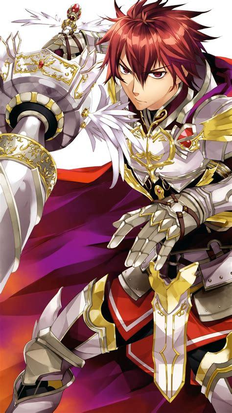 Download 1080x1920 Anime Boy Knight Lance Armor