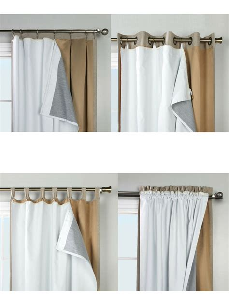 Blackout Drape Liner - thermalogic ultimate liner blackout insulated curtain