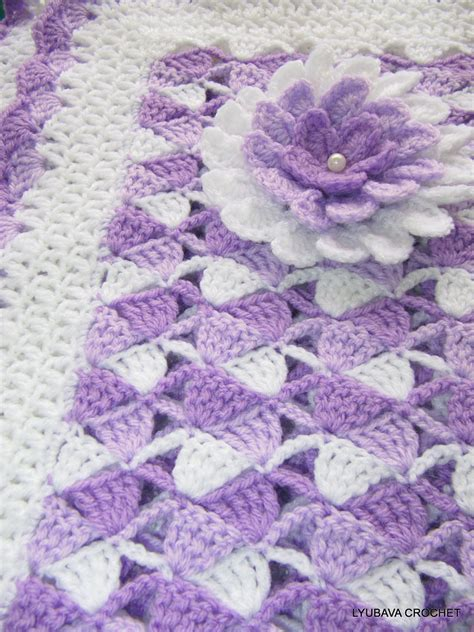 crochet baby blanket crochet pattern baby blanket beautiful lilac by lyubavacrochet