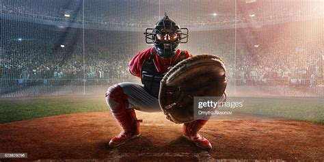 Baseball Catcher On Stadium High-Res Stock Photo - Getty Images