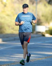 will ferrell wards the thanksgiving bloat as he hits the road for sprightly jog daily mail