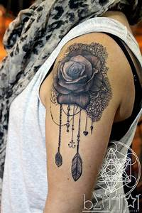 19 Awesome Lace Tattoo Designs, Images And Pictures