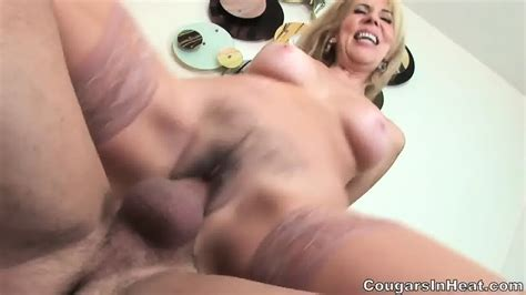 Horny Mom With Stockings Fucked In Her Hairy Pussy