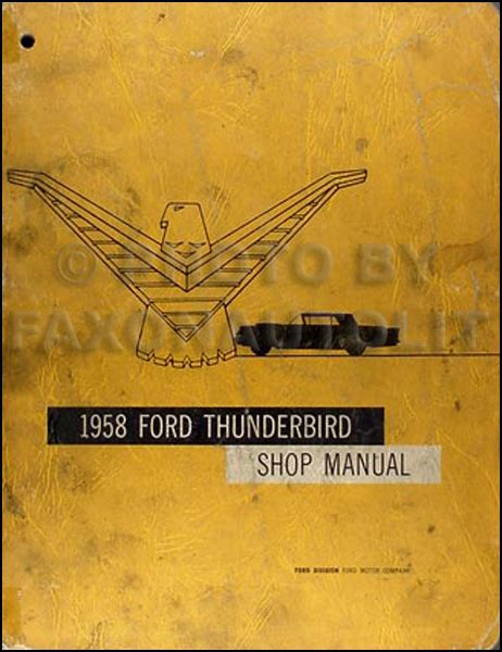 ford thunderbird original repair shop manual