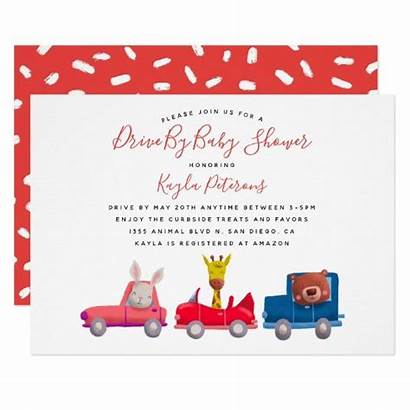 Shower Social Distancing Drive Invitation Animals Inspiremelounge