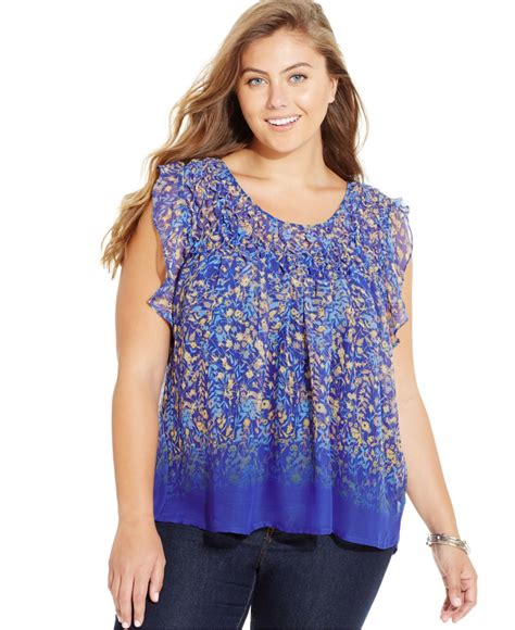 chiffon blouse plus size plus size printed gathered chiffon blouse