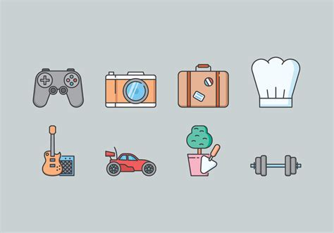 hobby icons  vector art   downloads