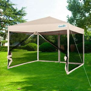 upgraded quictent ez pop canopy netting sides screen house tent ebay