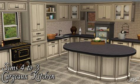 sims 3 kitchen ideas cargeaux kitchen conversion by teh sims