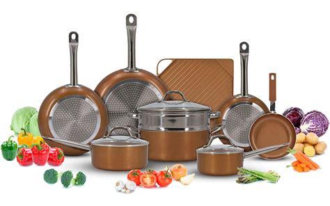 luxury copper cookware pots  pans set   stick