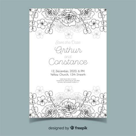 Beautiful and elegant wedding invitation template Vector