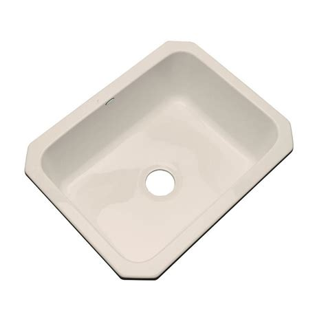thermocast inverness undermount acrylic 25 in single bowl kitchen sink in desert bloom 22061 um