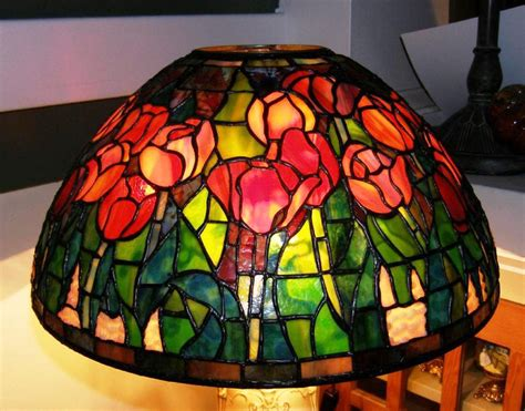 Stained Glass Ceiling Fan Lamp Shades Home Design