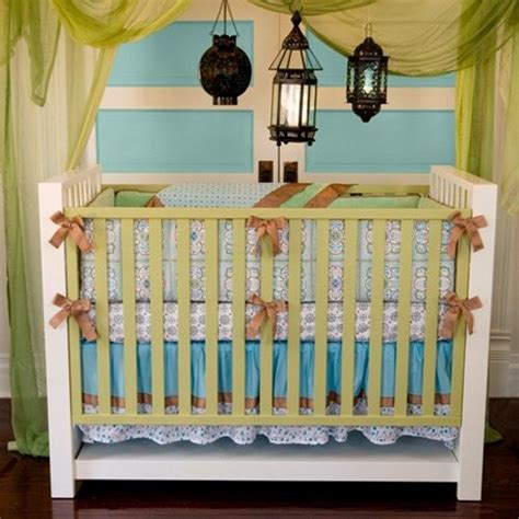 modern crib bedding sets caden modern vintage collection bedding set