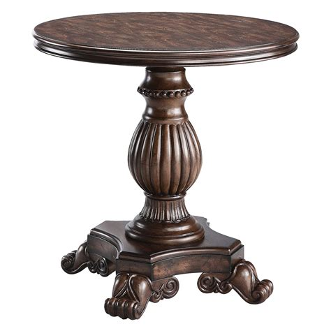 pedestal accent table stein world pedestal reclaimed table end