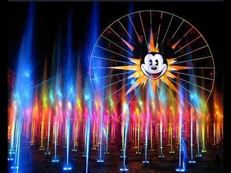Disneyland Light Show disneyland world of color water light show