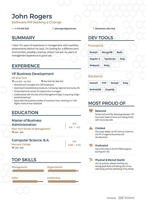examples  resumes  enhancv sample resumes resume