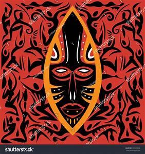 Abstract African Art  Africa Mask  Vector Art