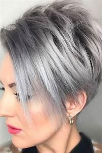 Blond Grau Haarfarbe : kurzhaarfrisuren 2018 damen grau haarfarbe kurzhaarfrisuren kurzhaarfrisuren2018 frisuren ~ Frokenaadalensverden.com Haus und Dekorationen