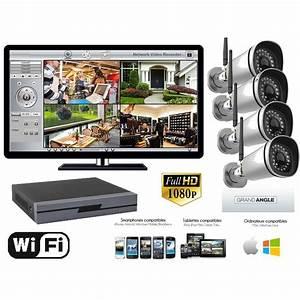 Camera Surveillance Exterieur Wifi : kit video surveillance exterieur wifi 2 megapixels 1080p 4 ~ Melissatoandfro.com Idées de Décoration