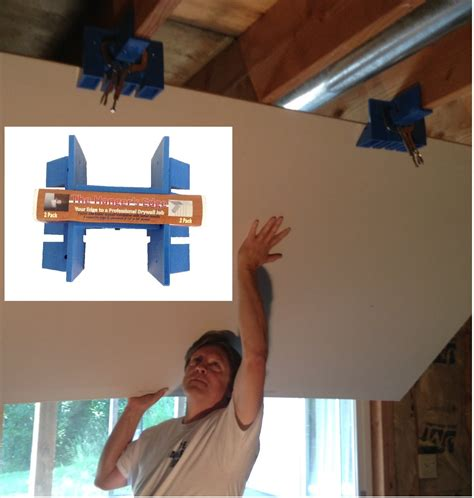 Hanging Drywall On Ceiling Tips by Drywall Lift Installation Tool An Easy Better And