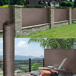 Brise Vue 220 G M2 : brise vue renforc 1 5 x 10 m taupe 220 gr m luxe pro ~ Edinachiropracticcenter.com Idées de Décoration