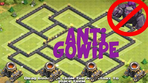 clash of clans best th10 farming base 2015 clashofclans quot anti gowipe quot town 10 th10 farming clas