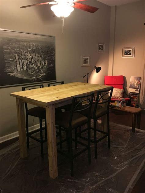 diy bar height farmhouse table lumber supplies