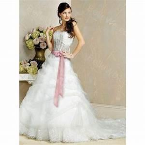 robe mariee blanche et rose photos de robes With robe de mariée rose et blanche