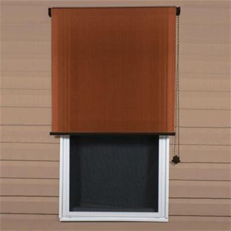 coolaroo terracotta exterior roller shade 48 in w x 72
