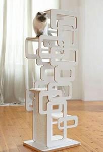 Arbre A Chat Moderne : 9 arbres chat design esth tiques animaux de compagnie chat mobilier pour chat et maison ~ Melissatoandfro.com Idées de Décoration