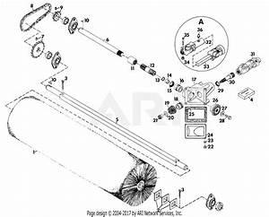 Gravely 22118 44 U0026quot  Power Brush 2 Wheel Tractor 4 Wheel