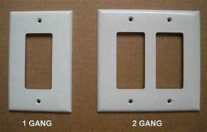 Mid Over Size Gfci Decora Switch Outlet Wall Cover Plate 1 2 Gang Plastic White