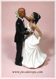 bald hispanic black african american groom  bride