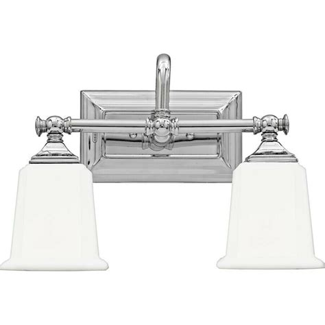 Chrome Bathroom Fixtures by Quoizel 2 Light Nicholas Bath Fixture In Polished Chrome