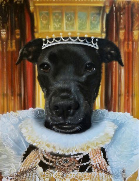 The Queen Dog Painting Template Royal Dog Portrait