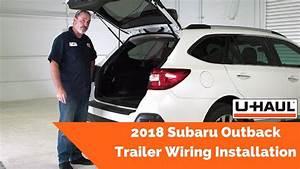 2018 Subaru Outback Trailer Wiring Installation