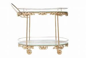 Vintage Gold Bar Cart Omero Home