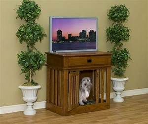 1000 ideas about dog crate table on pinterest dog With buffet table dog crate