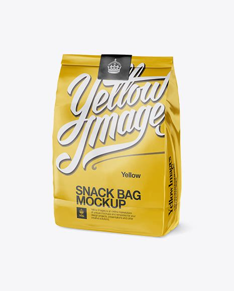Coming in psd format, the mockup showcases a simple bag of chips in two positions, one from a front point of view, and one from a perspective point of view, both of which can. Glossy Snack Bag With Label Mockup - Half Side View ...