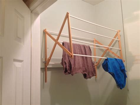 wall mounted laundry drying rack 10 diy laundry drying racks for small spaces